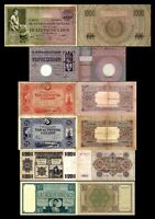 2x 10, 20, 25, 25, 50, 1.000 Gulden - Edition 1924 - 1938 - Reproduction - NL 11