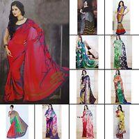 Indische Designer Bollywood Hochzeit Georgette Sari Party Wear Saree-NSR3262