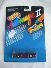 Hot Wheels 1989 Automagic 2 Corvette Convertible Purple Mint In Card