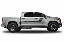 Vinyl Decal Side Stripe Wrap Kit for Toyota Tundra CrewMax 2014-2017 Matte Black