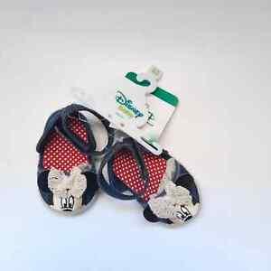 DISNEY Infant Minnie Mouse Shoes 6-9 Mos