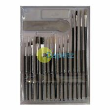 New 15 Artist Paint Brushes Set Acrylic Oil Watercolour Painting Craft Art Model