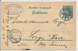 Steilschriftstempel HAMELN 22.4.01 auf D.Reich GSK (24669)