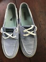 Sperry Top Sider  Women Blue Leather Sparkle Boat Shoes Size 11 M