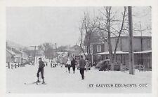 Skieurs & Norway House ST-SAUVEUR-DES-MONTS Quebec Canada 1940s Postcard 13