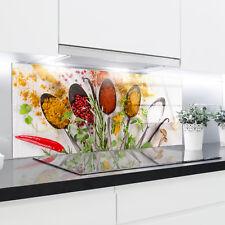 Kitchen Glass Splashback Printed Panels Heat Resistant Toughened Glass 120x40cm