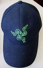 Razer Gaming Black Baseball Cap Adjustable Size with Snake Logo