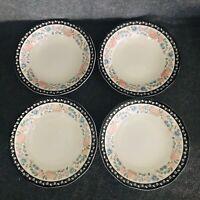 Sango Claremore Bowl Set of 4 Scalloped 8104 Elizabeth Gray