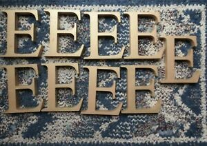 """Vintage 6"""" Gold Colored Metal Sign Letter E, Monogram, Initials, Marquee - E"""
