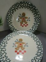 "Lot Of 4 Tienshan Folk Craft Ginger Bread Ceramic Dinner Plate 10"" ~EUC~"