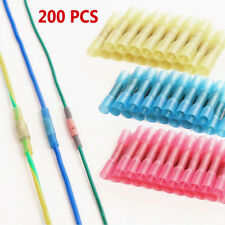 200PCS Solder Sleeve Heat Shrink Butt Waterproof 22-10 AWG Wire Splice Connector