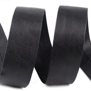 Faux Leather Bias Binding Tape 1 Metre x 15 30mm Wide Strong Trim Edge Ribbon UK