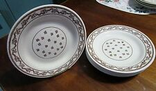 """Oxford 9-1/8""""  SIX Dinner Plates Brown Rope Pattern~Made in Brazil~"""