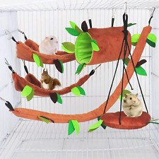 5Pcs Hamster Hammock Small Animals Hanging Warm Bed House Cage Nest Accessories