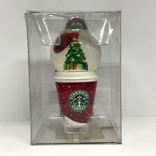 Starbucks 2007 Holiday Snow Globe Christmas Ornament Red To Go Cup Tree