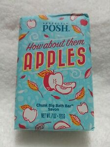 Perfectly Posh How About Them Apples - Apple Big Bath Chunk Soap Bar / New 2021