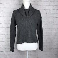 Eileen Fisher Womens Gray Size XXS Cowl Neck Yak/Merino Wool Long Sleeve Sweater