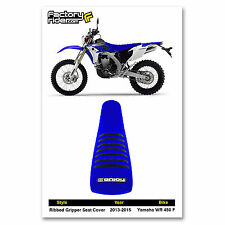 2013-2015 YAMAHA WR 450 F Blue/Black RIBBED SEAT COVER by Enjoy MFG