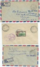 UK GB JAMAICA 1950s SIX REGISTERED COVERS DIFFERENT TOWNS HARKERS HALL QUICKSTEP