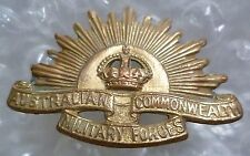 Badge- Australian Commonwealth Military Force Official Badge (Brass, Genuine*)