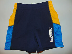 San Diego Chargers Kids Youth Toddler Shorts 3T NFL (HOLE) NEW NWOT
