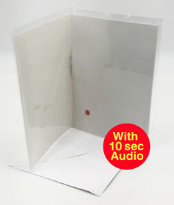 DIY Recordable Voice Blank Greeting Card - Pully to Play  - 10 seconds audio