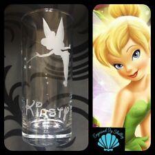 Personalised Tinkerbell Handmade Highball Glass FREE Name Engraved! Peter Pan