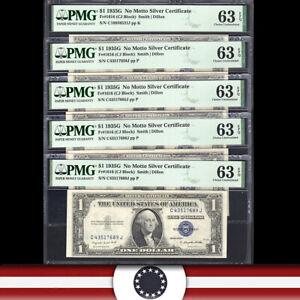 1935-G $1 SILVER CERTIFICATE NO MOTTO  PMG 63 EPQ  Fr 1616  LOT-WSZ