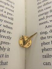 Check Mark Right Correct Answer Tick Gold Tone Metal Lapel Pin