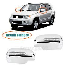 Chrome Side Led Light Mirror Covers Trims For 2006-2013 Suzuki Grand Vitara SUV