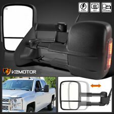 2014-2018 Silverado Sierra 1500 Power+Heated Towing Mirrors w/Smoke LED Signal
