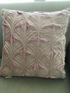 New Harlow Luxury Decorative embroidered Throw Pillow case, Blush pink 20 by 20'