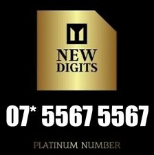 GOLD MEMORABLE VIP DIAMOND PLATINUM MOBILE PHONE NUMBER SIM CARD 5567 5567