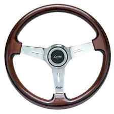 Classic Sport Wood Steering Wheel 370 mm LUISI Mugello II Mahogany MADE IN ITALY