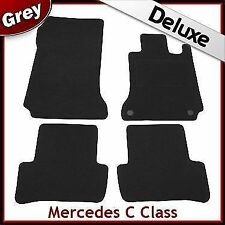 Tailored LUXURY 1300g Carpet Mats for Mercedes C-Class Automatic 2007-2014 GREY