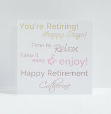 Personalised Retirement Card, You're Leaving Happy Retirement. Good luck, Enjoy.