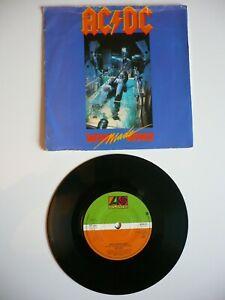 "AC/DC Who Made Who 7"" Vinyl UK 1986 Atlantic 1st Press A2/B2 Single"