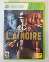 L.A. Noire (Microsoft Xbox 360, 2011) Complete w/ Manual - 3 Discs