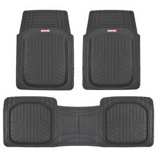 Motor Trend Ridged Car Floor Mats Deep Dish All-Weather Odorless Rubber - Black