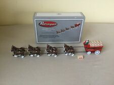 Retrospect/Midwest Of Cannon Falls Budweiser Clydesdales & Wagon Porcelain Box