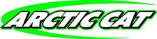 "Arctic cat swoosh snowmobile sticker decal 22"" green"