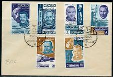 JORDAN 1966  SCOTT#532/532E  ASTRONAUTS  SPACE  SET FIRST DAY  COVER