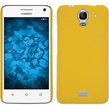 Custodia Rigida Huawei Y360 - gommata giallo + pellicola protettiva