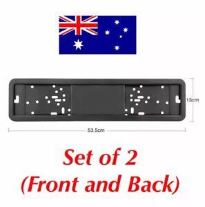 European Euro Number License Plate Cover Frame Holder Mounting Bracket Standard