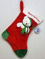 Baby Gund Super Soft Christmas Stocking MERRY CHRISTMAS w/ Teddy Bear A300