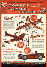 1959 PAPER AD Comet Scale Model Airplanes Guided Missile Racing Race Car Belond