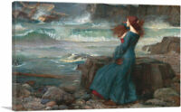 ARTCANVAS Miranda The Tempest 1916 Canvas Art Print by John William Waterhouse