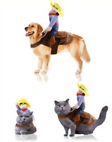 Novelty Pet Dog Cat Puppy Christmas Costume Dress Up Fancy Clothes Cosplay cloth