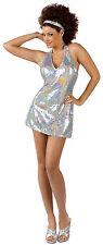 Women's Disco Ball Diva Sequin Mini Dress Adult Costume Small / Medium Sizes 2-8