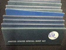 LOT OF TEN (10) 1967 US SPECIAL MINT SETS 50 BU COINS MINT CELLO SMS 40% SILVER